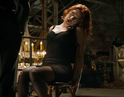 "Scarlett Johansson Kicks Butt In First ""Avengers"" Clip"