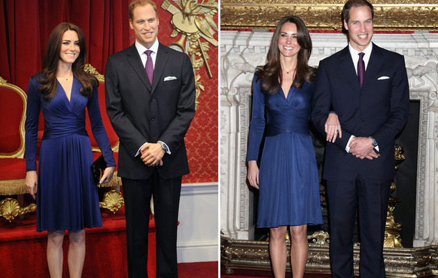 Prince William and Kate's Super-Realistic Wax Figures Revealed