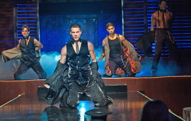 "Channing Tatum Strips to ""It's Raining Men"" In First ""Magic Mike"" Clip"