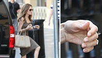 Angelina Jolie Legs Out in Hollywood ... With Engagement Ring