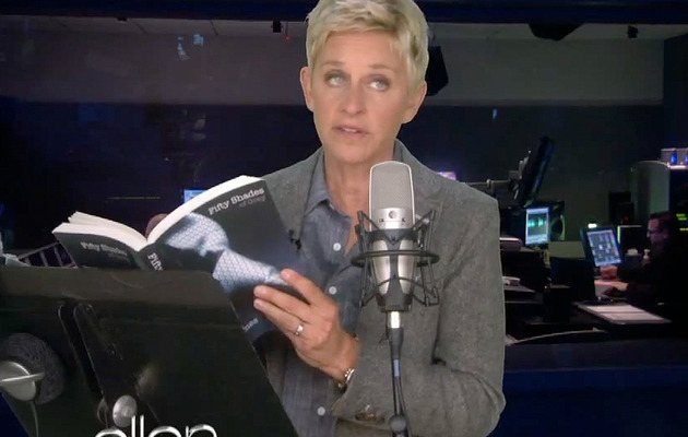 "Video: Ellen DeGeneres Reads ""Fifty Shades of Grey"""
