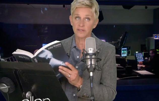 "Video: Ellen DeGeneres Reads ""Fifty Shades of Grey"""