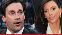 Kim Kardashian Makes Peace with Nemesis Jon Hamm