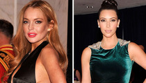 Lindsay Lohan & Kim Kardashian at the White House Correspondents Dinner
