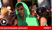 The Wanted -- Non-Apology for Christina Aguilera