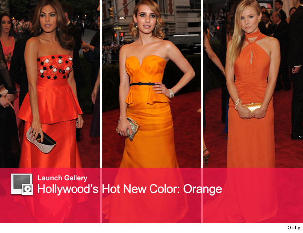 Orange Colors hollywood's hot new color: orange | toofab