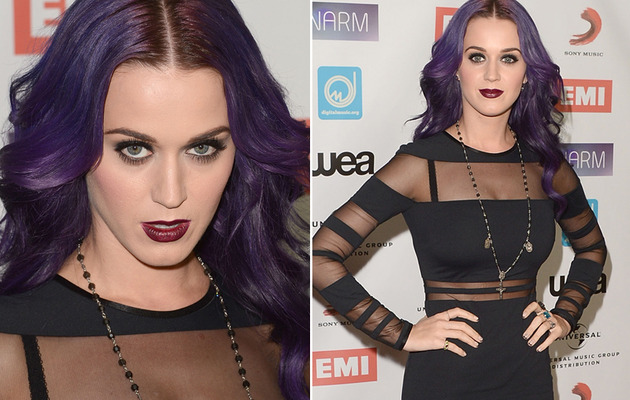 Katy Perry Goes Goth In Sexy Black Dress