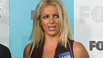 Britney Spears -- Chewing Gum During 'X Factor' Interview