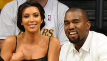 Kim Kardashian & Kanye West -- No Relationship Stuff on Reality Show