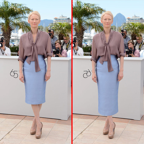 Can you spot the THREE differences in the Tilda Swinton picture?