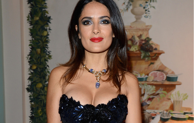 Salma Hayek Wears Another Daring Dress at Cannes Bash!