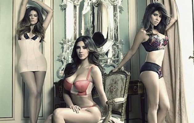 New Kardashian Lingerie Ad: Who's Hottest -- Kim, Khloe or Kourtney?