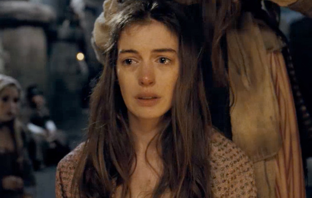 "Anne Hathaway Gets Hair Cut Off In First ""Les Miserables"" Trailer"