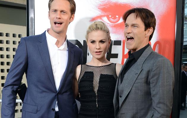 "Anna Paquin Flaunts Baby Bump at ""True Blood"" Season 5 Premiere!"