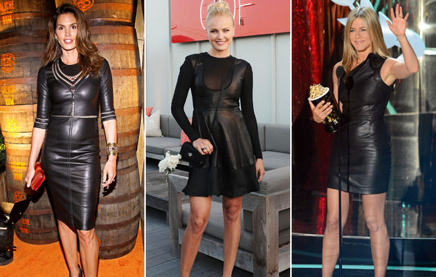 Hot Celebrity Fashion Trend: Leather Dresses!
