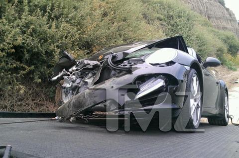 Lindsay Lohan crashed her black porsche on Pacific Coast Highway landing her in the emergency room.