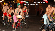'Grimm' Stars -- Commit Cardinal Sin in Naked Bike Ride