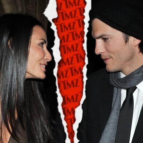 Demi Moore files for divorce from Ashton Kutcher in November 2011