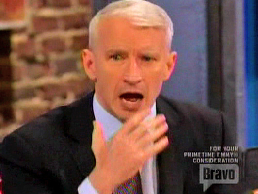 Video: Anderson Cooper Cussed Out Airplane Passenger!