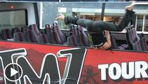 Pole Dancers Takeover TMZ Tour Bus