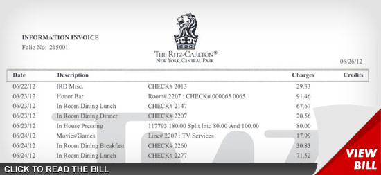 hilton hotel invoice