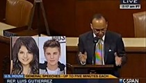 Bad Ass Congressman Attacks AZ Immigration Law ... Using Justin Bieber