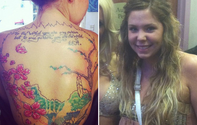 """Teen Mom 2"" Star Gets Giant Back Tattoo"