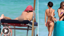 Candice Swanepoel and Arianny Celeste -- AWESOME Attack of the Beach Bums!!