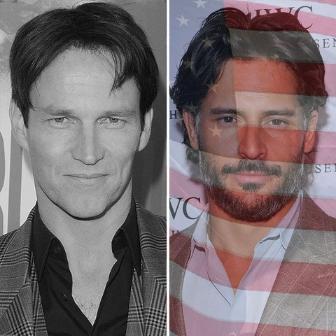 Stephen Moyer was born in England. Joe Manganiello was born in the USA!