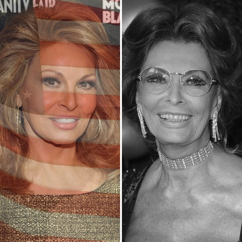 Raquel Welch was born in the USA! Sophia Loren was born in Italy.