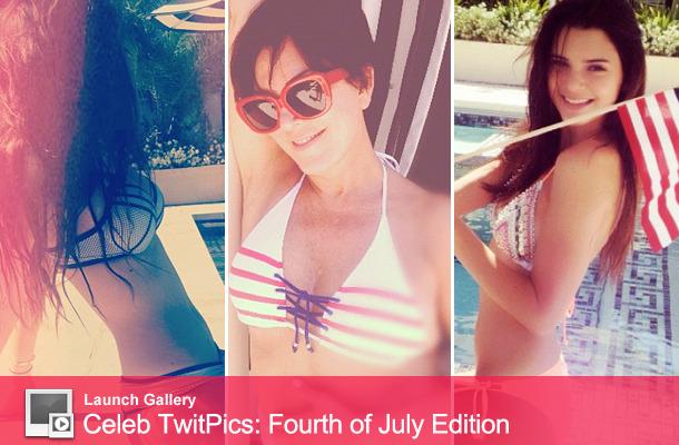 Kris, Kylie & Kendall Jenner Tweet Patriotic Bikini Photos