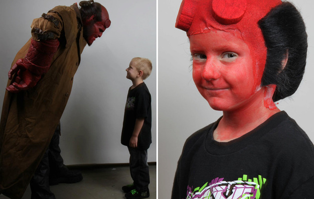 "Ron Perlman Dons ""Hellboy"" Costume for Make-A-Wish"