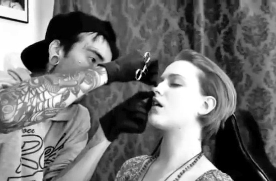 Video: Evan Rachel Wood Pierces Her Nose!