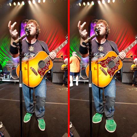 Can you spot the THREE differences in the Jack Black picture?