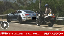 Justin Bieber 911 Calls -- 'Looks Like a Spaceship'