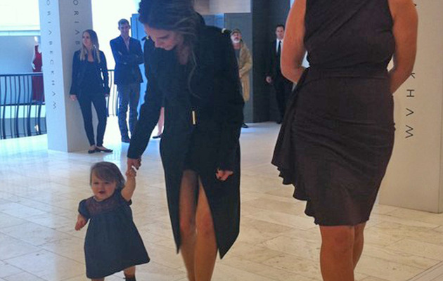 So Cute! Baby Harper Beckham Walks In New Photo!