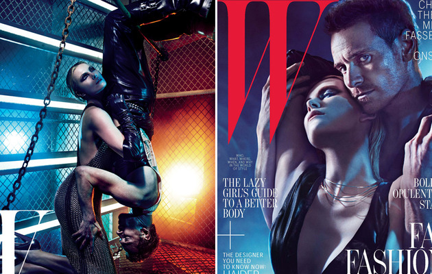 Charlize Theron and Michael Fassbender's Super Sexy W Shoot