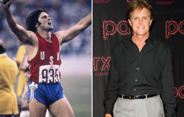 Famous Olympians -- Then & Now