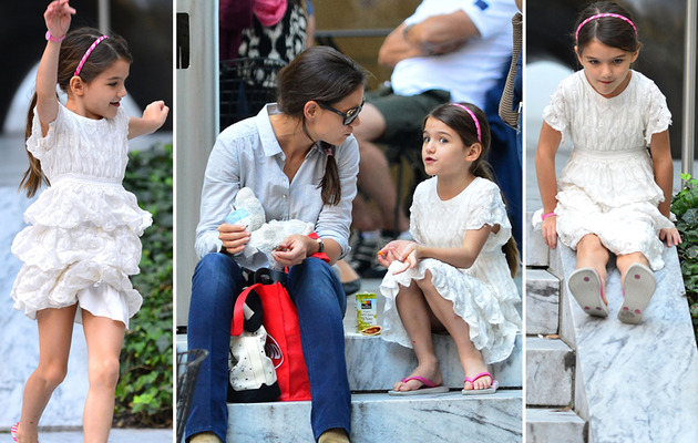 Katie and Suri: All Smiles During Museum Trip!