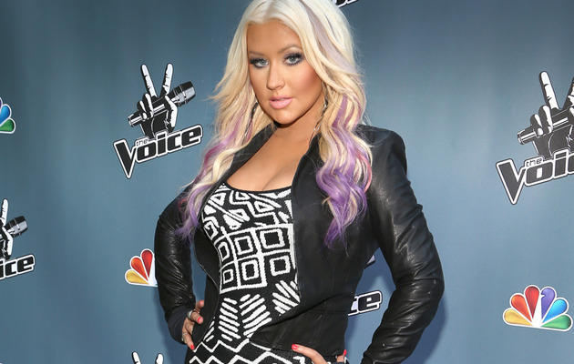 "Christina Aguilera Shows Off New Look at ""The Voice"" Event"