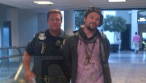 Bam Margera -- Detained & Cuffed in Airport ... for Reeking of Booze