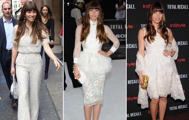 Jessica Biel Goes On White Lace Craze Ahead Of Wedding