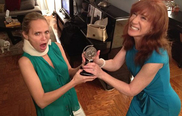 Kathy Griffin (Hilariously) Comes to Aid of Injured Kristin Chenoweth