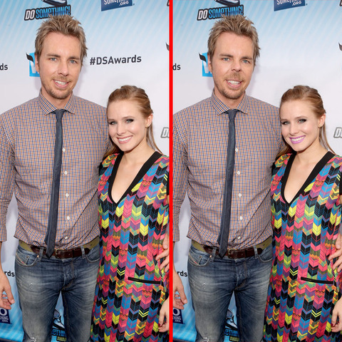Can you spot the THREE differences in the Dax Shepard and Kristen Bell picture?