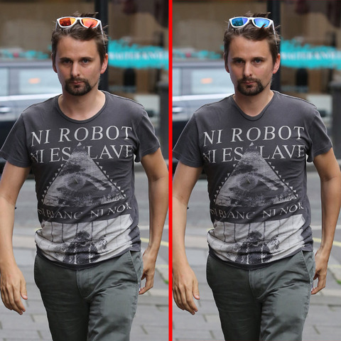 Can you spot the THREE differences in the Matthew Bellamy picture?