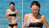 Johnny Depp's Ex Vanessa Paradis -- The Black Break-Up Bikini
