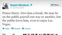 Rupert Murdoch -- Leave Prince Harry Alone!