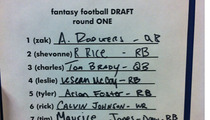 Aaron Rodgers -- Goes #1 in Terribly Run TMZ Fantasy Football Draft