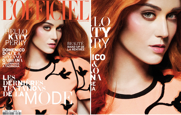 Katy Perry Barely Recognizable with Orange Hair on French Magazine!