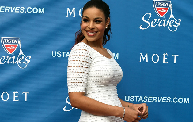 Jordin Sparks Turns Heads In White Bandage Dress!